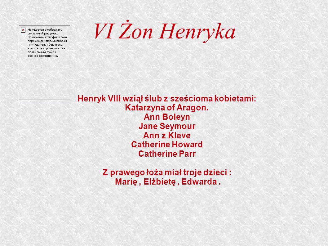 VI Żon Henryka Henryk VIII wziął ślub z sześcioma kobietami: Katarzyna of Aragon.
