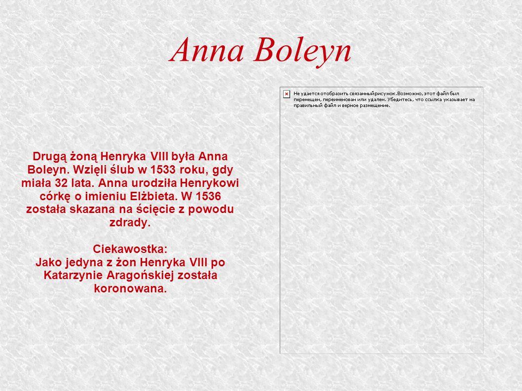 Anna Boleyn Drugą żoną Henryka VIII była Anna Boleyn.
