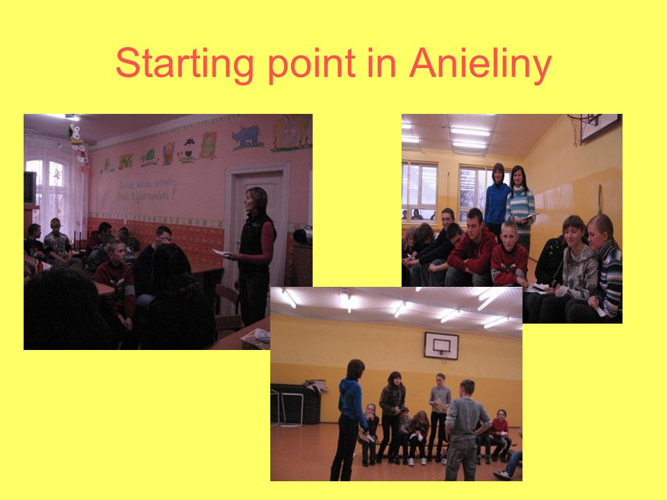 Starting point in Anieliny