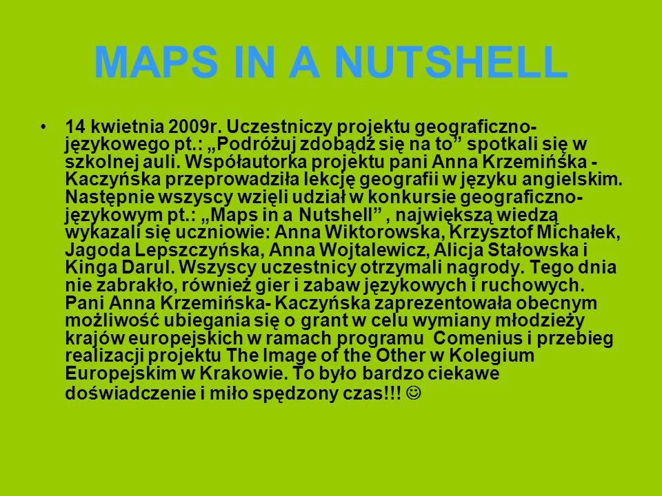 MAPS IN A NUTSHELL 14 kwietnia 2009r.