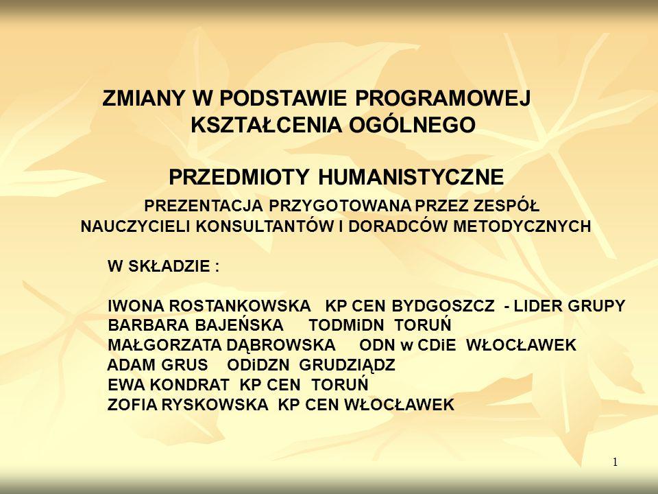 2 Plan prezentacji 1.Założenia ogólne reformy programowej 2.