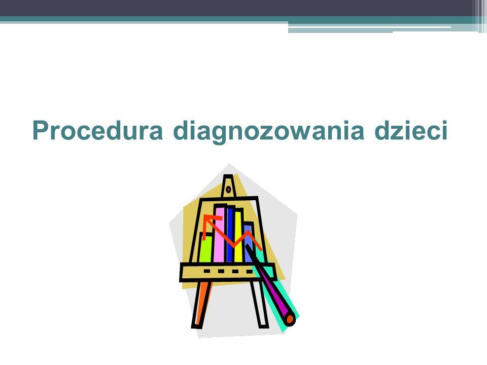 Procedura diagnozowania dzieci