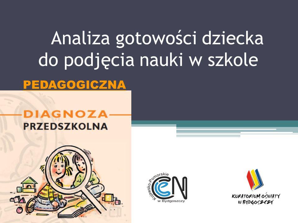 Analiza gotowości dziecka do podjęcia nauki w szkole PEDAGOGICZNA