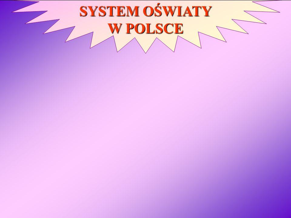 SYSTEM OŚWIATY W POLSCE