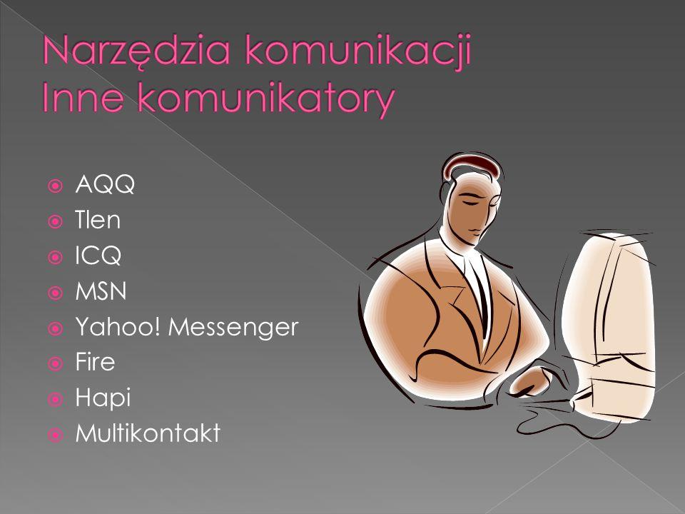 AQQ Tlen ICQ MSN Yahoo! Messenger Fire Hapi Multikontakt