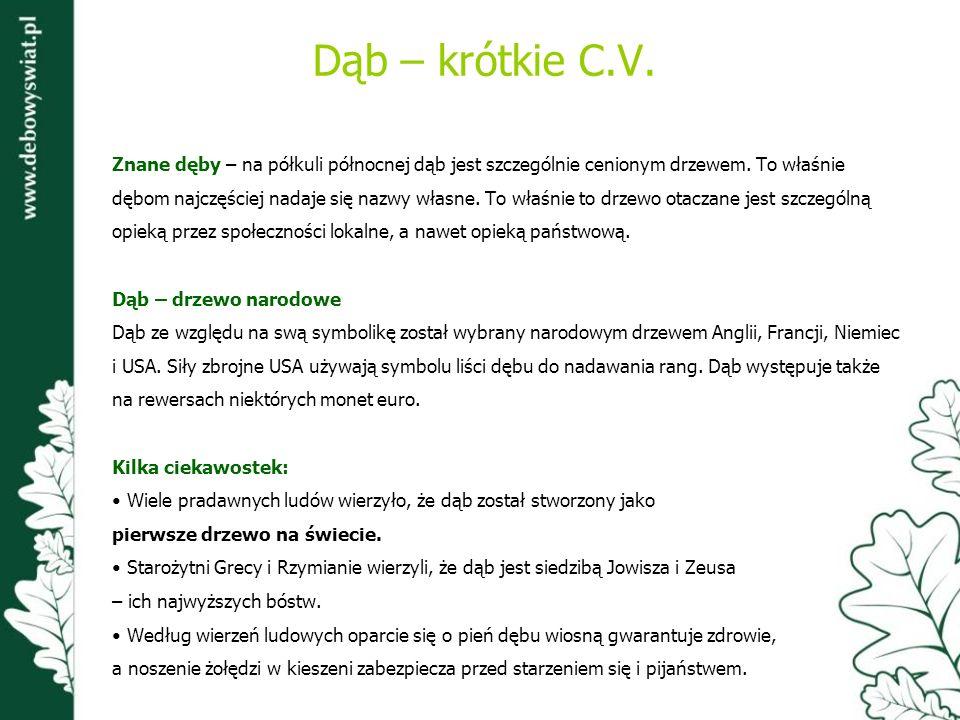www.debowyswiat.pl Jednym z elementów programu Dębowy Świat jest strona internetowa działająca pod adresem www.debowyswiat.pl.