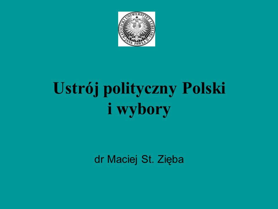 Ustrój polityczny Polski i wybory dr Maciej St. Zięba