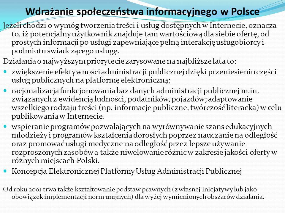 Usługa społeczeństwa informacyjnego Prawo UE Dyrektywa 2000/31/WE Parlamentu Europejskiego i Rady z 8 VI 2000 r.