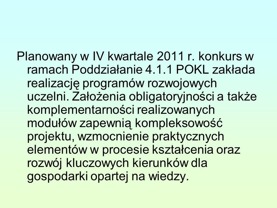 Planowany w IV kwartale 2011 r.