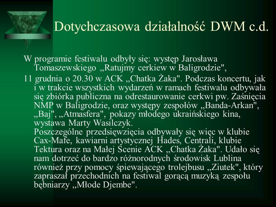 W programie festiwalu odbyły się: występ Jarosława Tomaszewskiego Ratujmy cerkiew w Baligrodzie