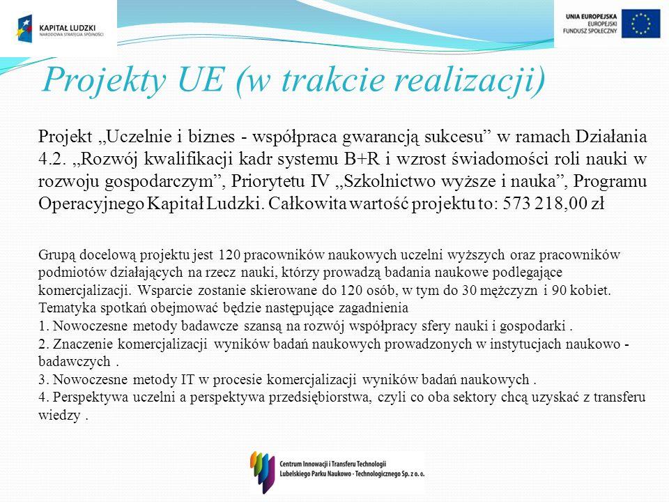Projekt Uczelnie i biznes - współpraca gwarancją sukcesu w ramach Działania 4.2. Rozwój kwalifikacji kadr systemu B+R i wzrost świadomości roli nauki