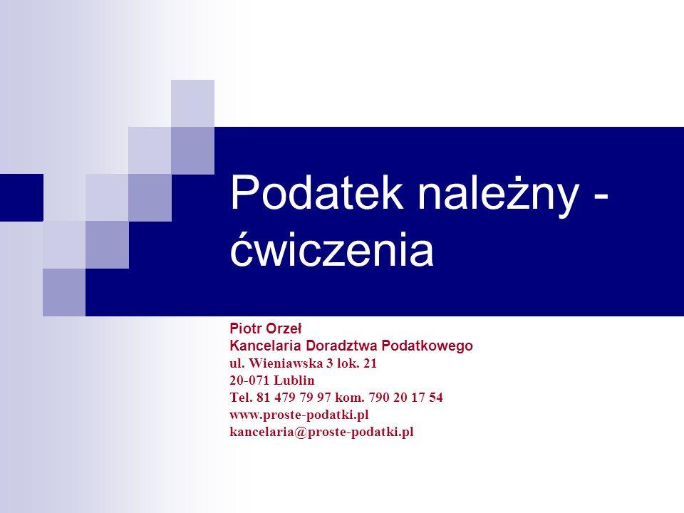 Kancelaria Doradztwa Podatkowego Piotr Orzeł 92 Rejestr podatku należnego cz.