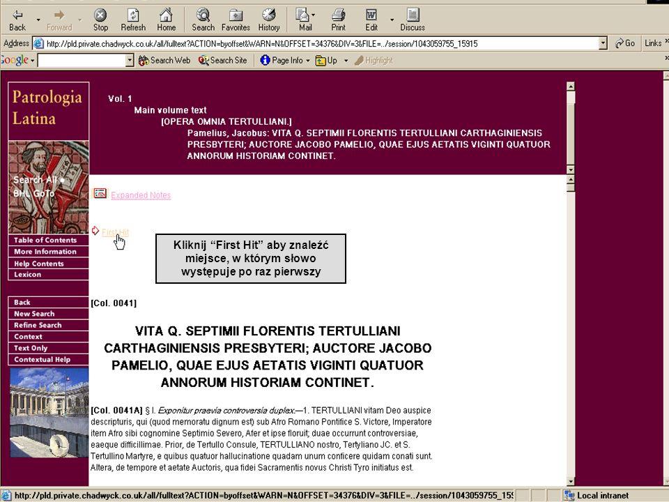 Kliknij Lexikon aby otworzyć Mediae Latinitatis Lexikon Minus Brilla