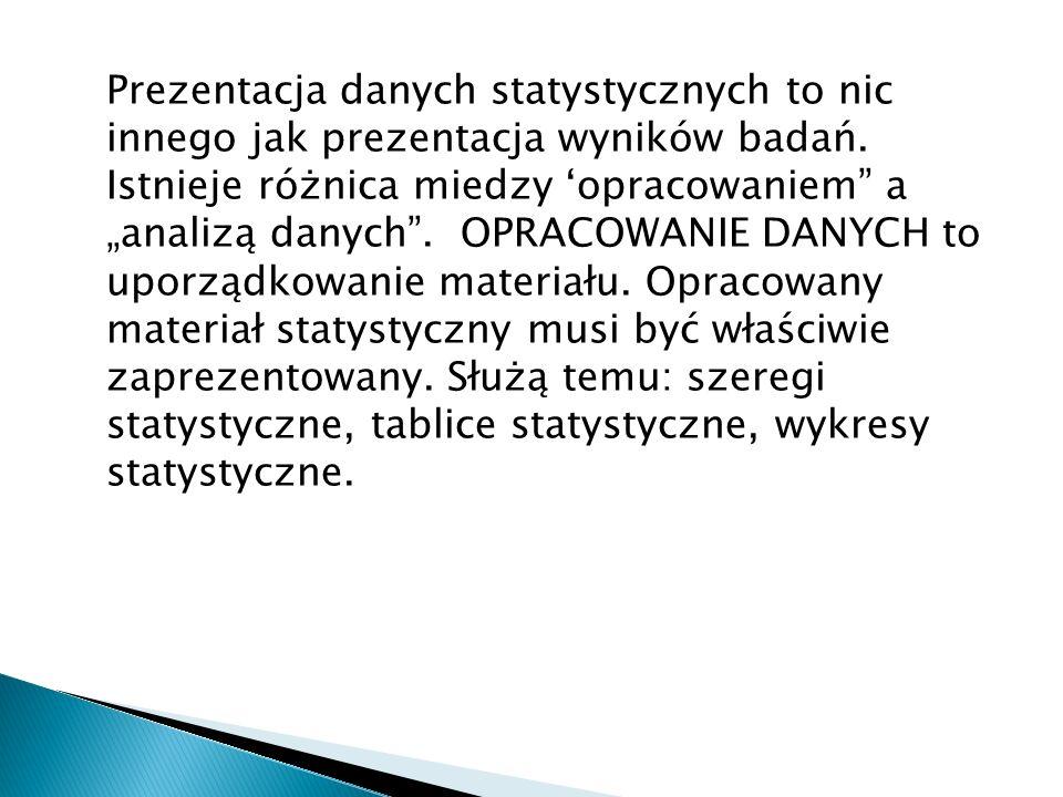 Stwierdzić, czy następujące zmienne są typu ilościowego, czy jakościowego oraz czy są to zmienne skokowe, czy ciągłe: a) waga dziecka w okresie pierwszego roku życia; b) liczba nakładów inwestycyjnych na środki trwałe; c) kursy walut obcych wyrażone w nowych złotych polskich; d) gatunki zbiorów ziemiopłodów; e) sprzedaż wybranych towarów konsumpcyjnych; f) liczba gmin w województwie; g) kolor włosów; h) siła uczuć dzieci i ich matki.