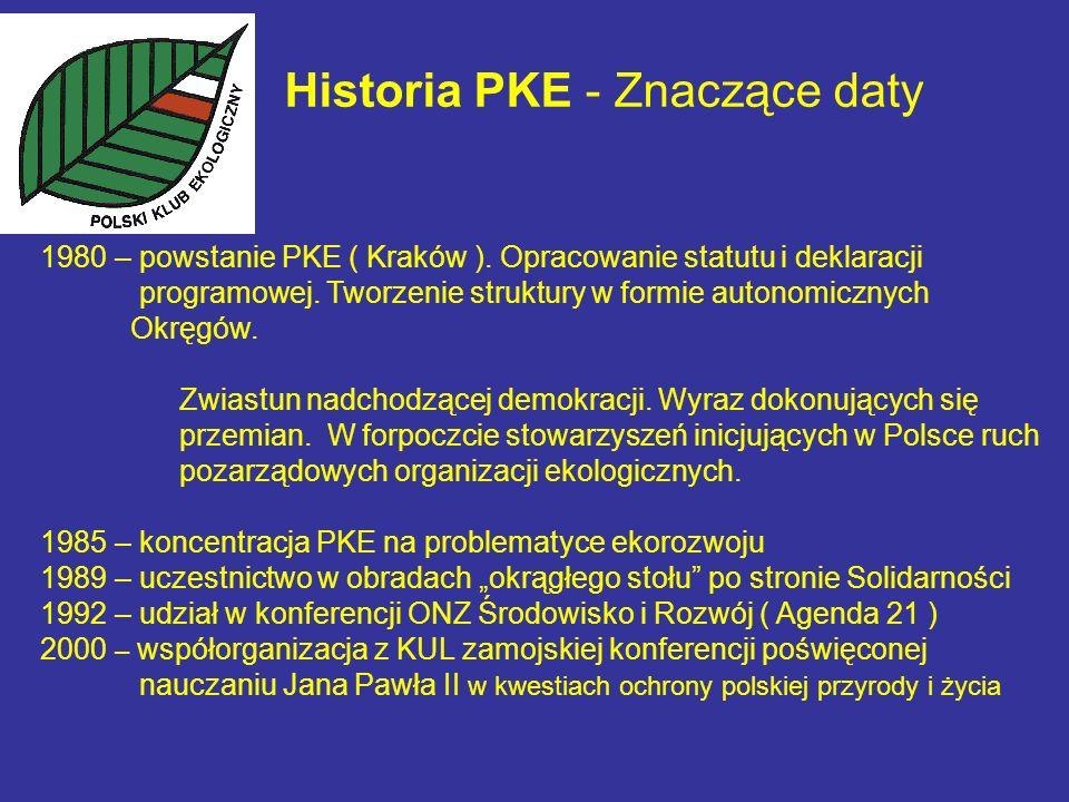 Historia PKE - Znaczące daty 1980 – powstanie PKE ( Kraków ).