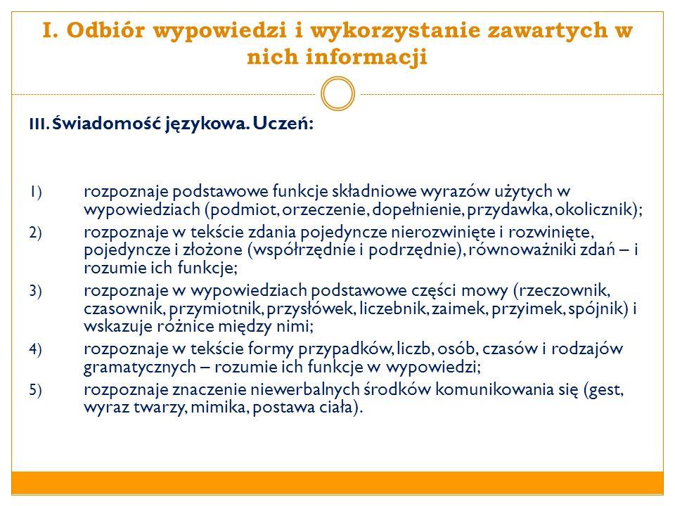 ZAPISY WYMAGAŃ SZCZEGÓŁOWYCH Gimnazjum II.