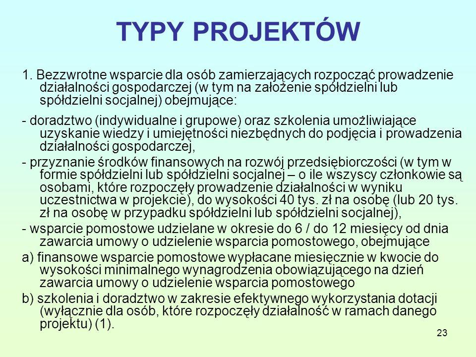 23 TYPY PROJEKTÓW 1.
