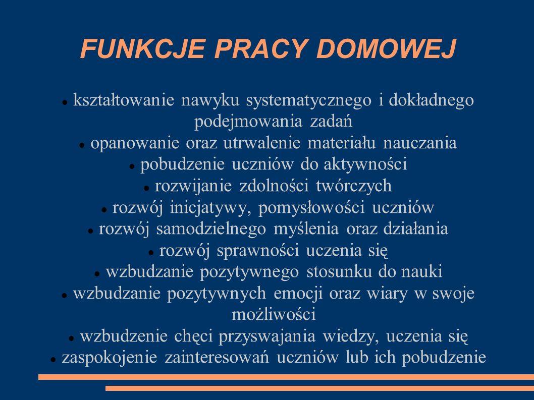 RODZAJE PRACY DOMOWEJ Podział J.