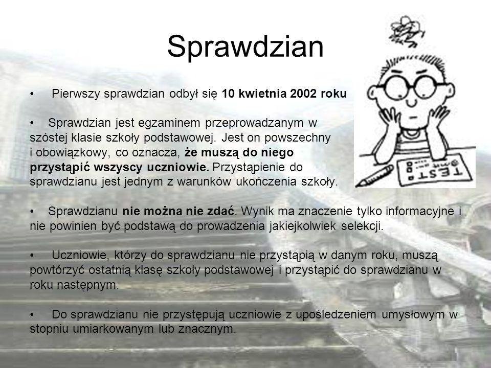 Od roku szkolnego 2011/2012 zmieni się struktura przeprowadzanego egzaminu gimnazjalnego.