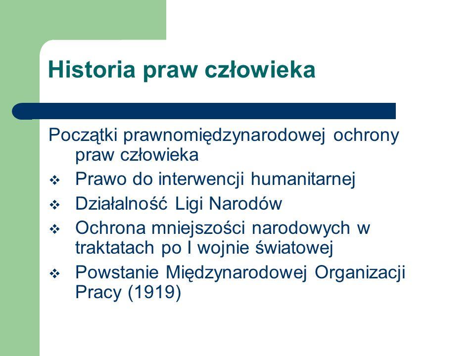 Historia praw człowieka Prawa człowieka w procesie powstania Narodów Zjednoczonych 6 I 1941 – F.