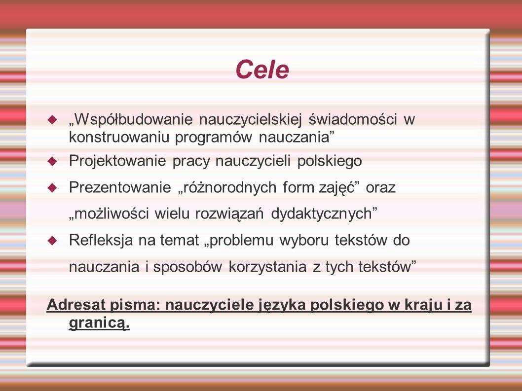 Historia 1990 - Wisełka, kwartalnik Wspólnoty Polskiej, adresowany do nauczycieli polonijnych 1991 - Ojczyzna Polszczyzna. Dawniej Wisełka, 1992 - Ojc