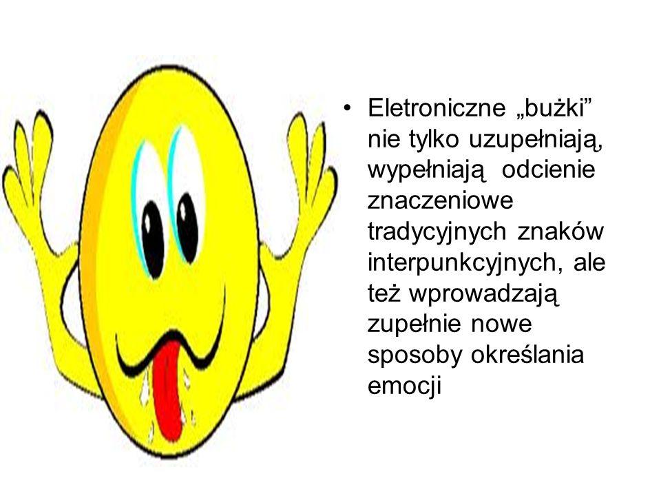 Nie sposób jednak wyobrazić sobie, że emotikony zastąpią tradycyjną interpunkcję.