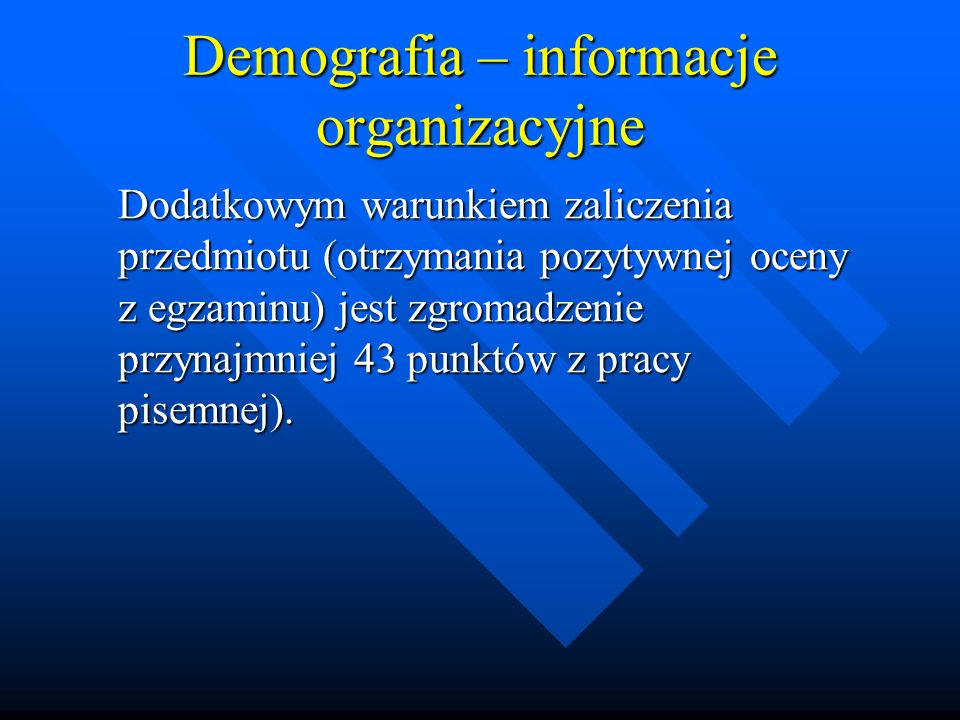 Sytuacja demograficzna Polski –Rozwiedzeni i separowani stanowią w Polsce nieliczną grupę osób - niespełna 4% populacji w wieku 15 lat i więcej, przy czym zdecydowanie częściej rozwodzą się mieszkańcy miast (4% mężczyzn i prawie 6% kobiet to rozwiedzeni) niż wsi (po niecałe 2%).