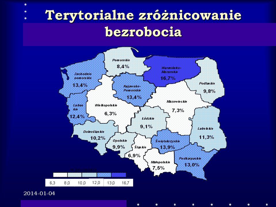 2014-01-04 Terytorialne zróżnicowanie bezrobocia