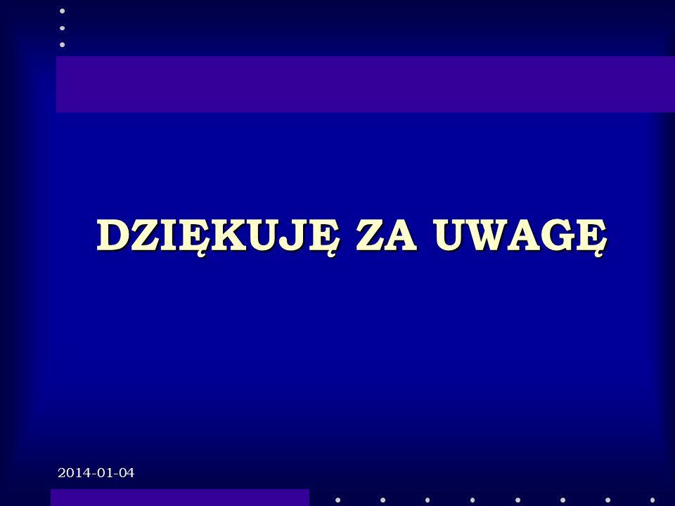 2014-01-04 DZIĘKUJĘ ZA UWAGĘ