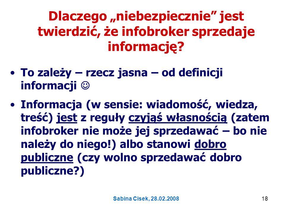 Sabina Cisek, 28.02.200819 Co to są odpowiednie umiejętności i wiedza?