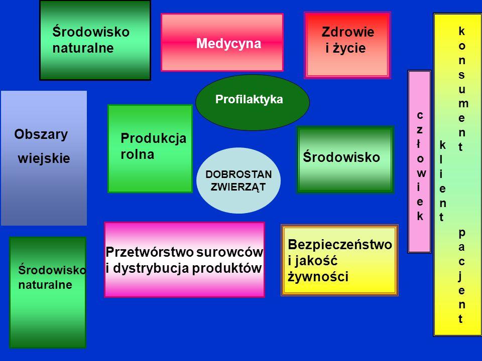 Obszary wiejskie Rol nict wo Medycyna Przetwórstwo surowców i dystrybucja produktów Profilaktyka Zdrowie i życie Środowisko Bezpieczeństwo i jakość ży