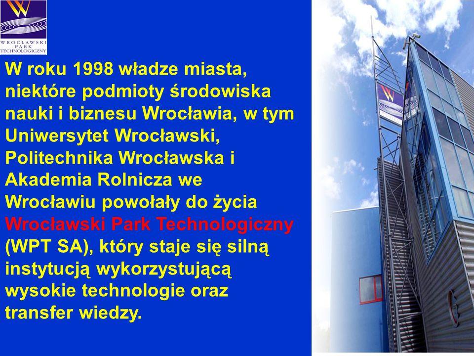 W roku 1998 władze miasta, niektóre podmioty środowiska nauki i biznesu Wrocławia, w tym Uniwersytet Wrocławski, Politechnika Wrocławska i Akademia Ro