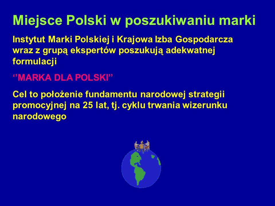 Miejsce Polski w poszukiwaniu marki Instytut Marki Polskiej i Krajowa Izba Gospodarcza wraz z grupą ekspertów poszukują adekwatnej formulacji MARKA DL