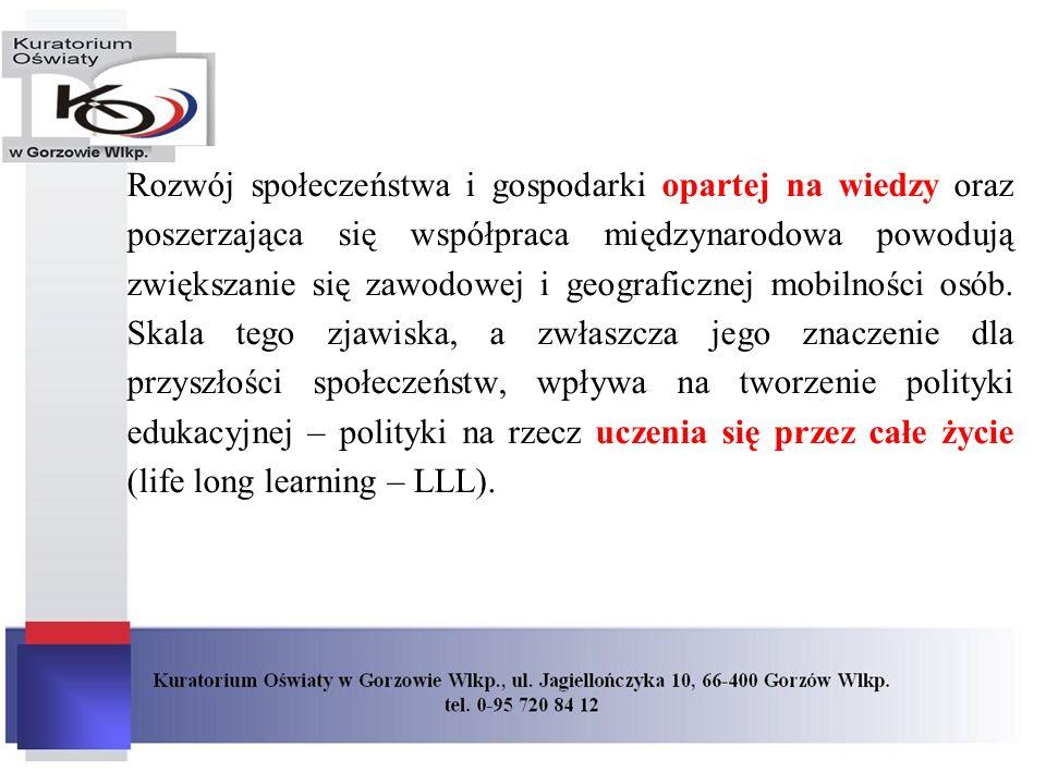 Rozwój społeczeństwa i gospodarki opartej na wiedzy oraz poszerzająca się współpraca międzynarodowa powodują zwiększanie się zawodowej i geograficznej