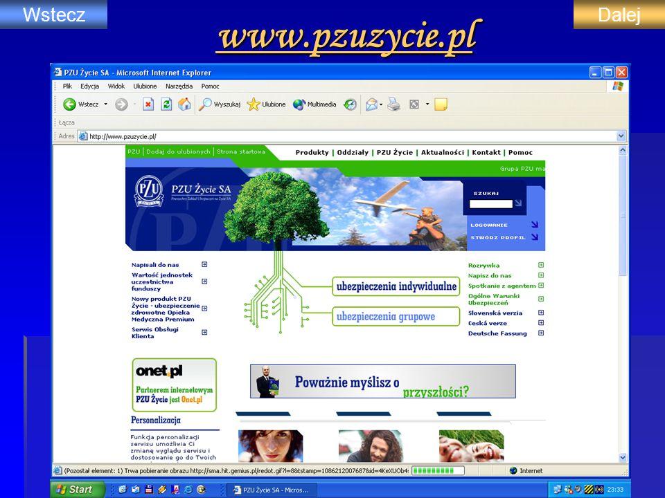 www.pzuzycie.pl WsteczDalej