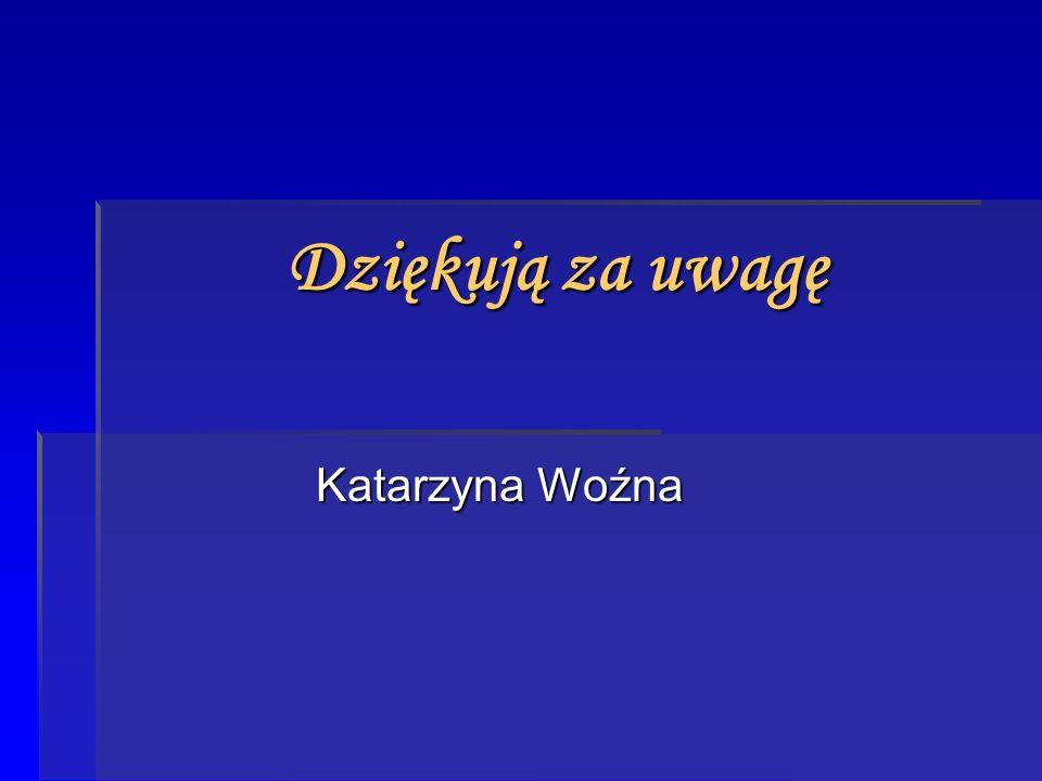 Dziękują za uwagę Katarzyna Woźna