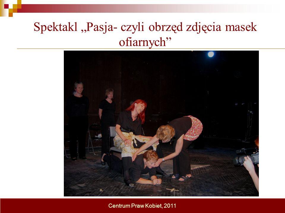 Spektakl Pasja- czyli obrzęd zdjęcia masek ofiarnych Centrum Praw Kobiet, 2011