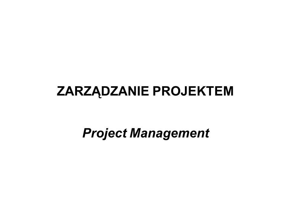 ZARZĄDZANIE PROJEKTEM Project Management