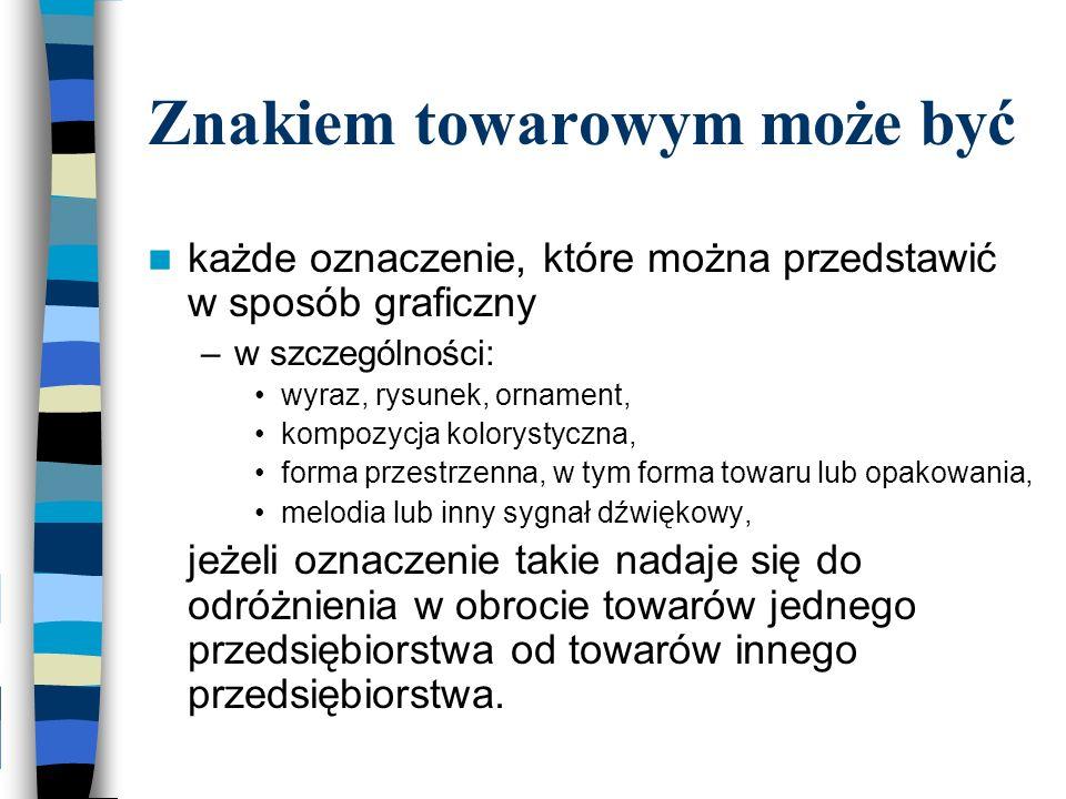 Przykłady znaków PODOBNYCH: –Gold i Mocca Fix Gold –Terra Viva i Terra –Paloma i Paloma Picasso –PEK-POL i PEK –JOPP Collection i J.O.P –Oknoplast i Oknoplast Kraków –Tytan i Tytan Lock