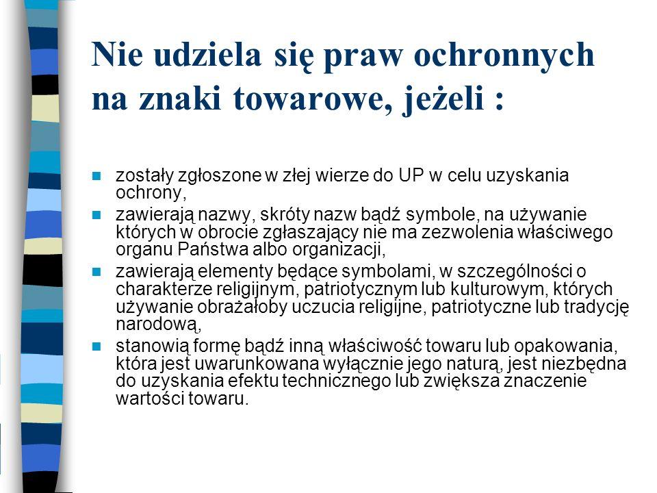 I Urząd i Komisja sprzeciwiły się rejestracji np.znaku BUDKOM, bo zarejestrowano BUDOKOP.