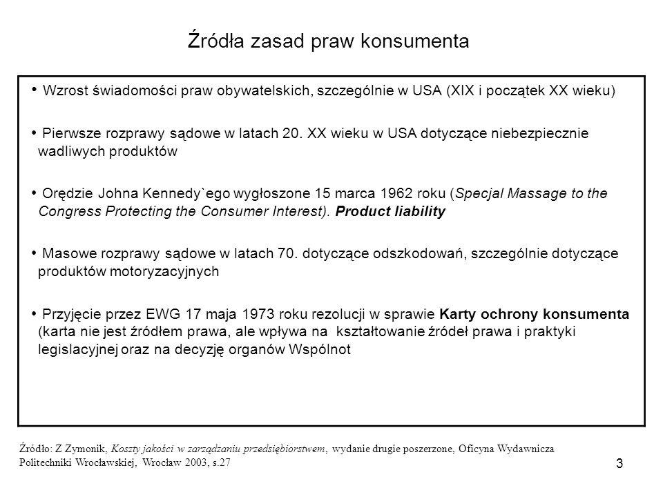 4 Odpowiedzialność za wadliwe wyroby (Dyrektywa Rady 85/374/EWG z 25 lipca 1985 roku z późniejszymi zmianami.).