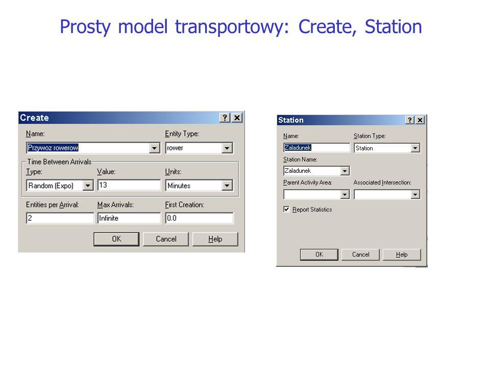 Prosty model transportowy: Create, Station