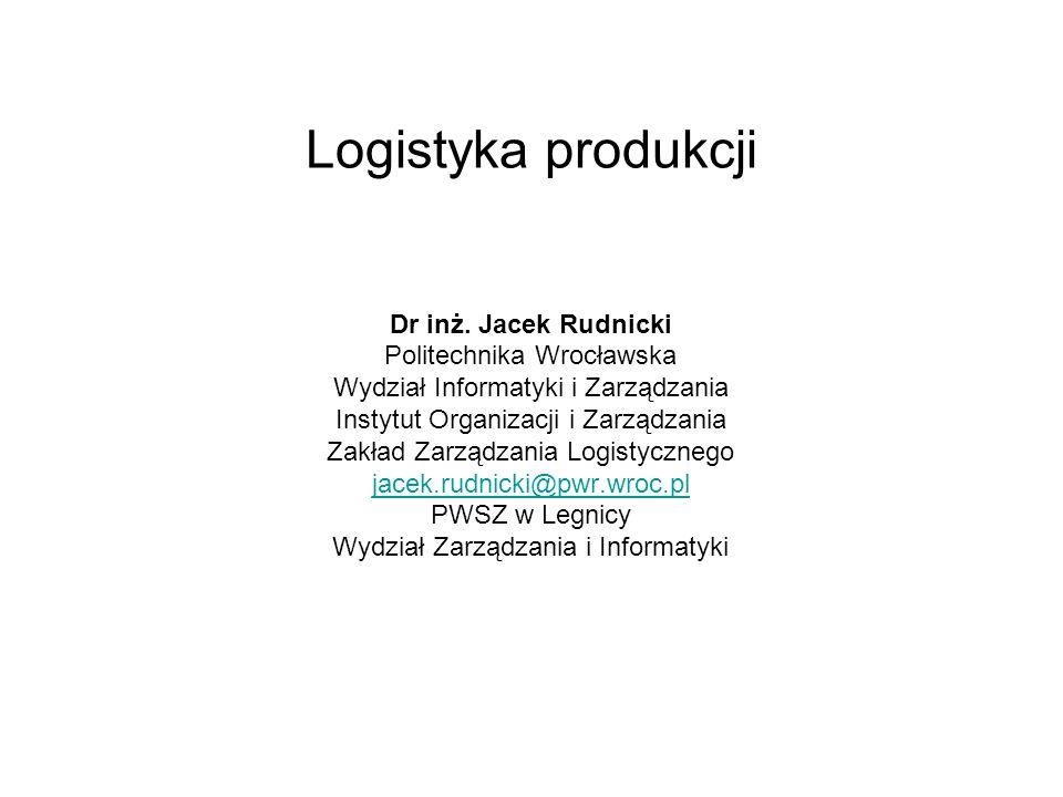 1.Zarządzanie logistyczne w strategii zintegrowanego zarządzania MRPII/ERP 2.Główne planowanie produkcji i planowanie potrzeb materiałowych (MPS + MRP) 3.Zarządzanie logistyczne w strategii JIT/Lean Production 4.Zarządzanie logistyczne w strategii TOC – zarządzanie ograniczeniami