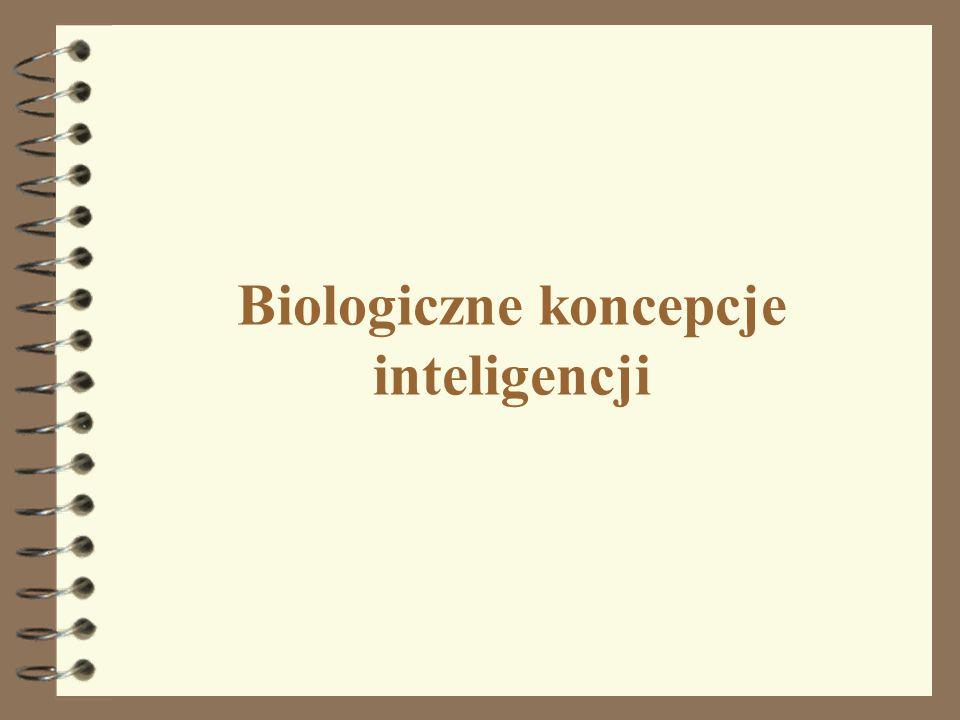 Biologiczne koncepcje inteligencji 28