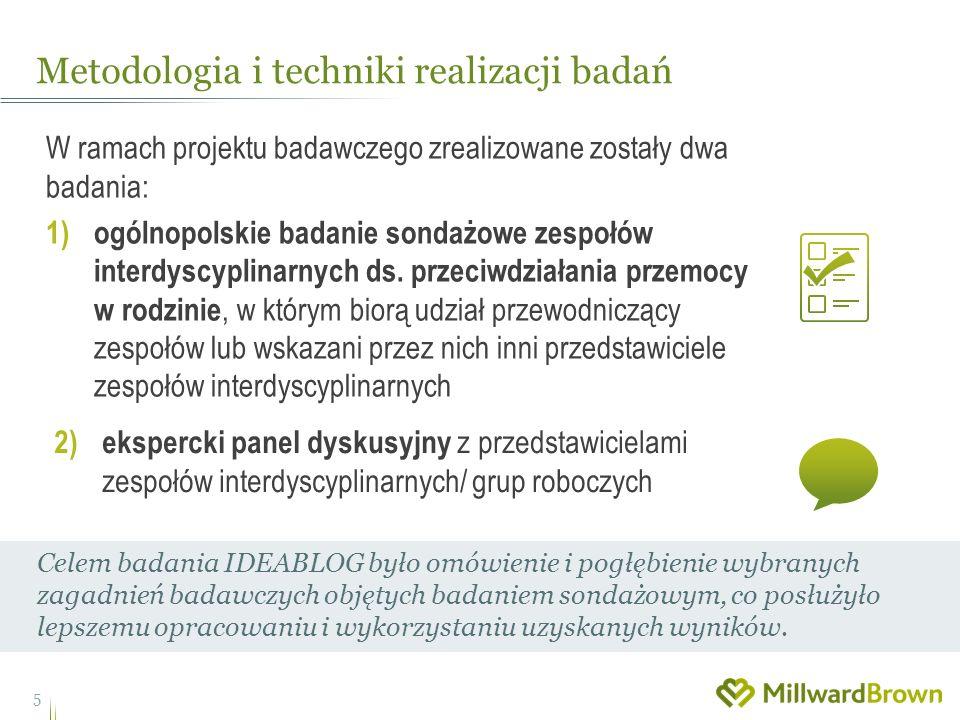 W ramach projektu badawczego zrealizowane zostały dwa badania: 1) ogólnopolskie badanie sondażowe zespołów interdyscyplinarnych ds.