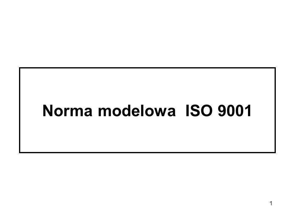 2 Dane dotyczące normy POLSKA NORMA Symbol: PN-EN ISO 9001 Tytuł: Systemy zarządzania jakością.