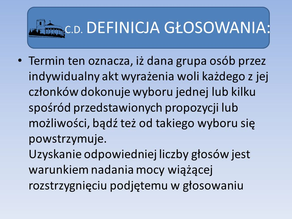 DEFINICJA SEJMU: Sejm stanowi pierwszą izbę polskiego parlamentu.