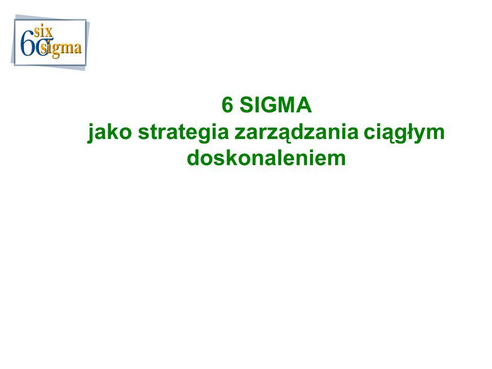 6 SIGMA jako strategia zarządzania ciągłym doskonaleniem