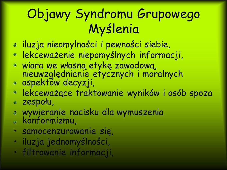 Na czym polega syndrom grupowego myślenia.