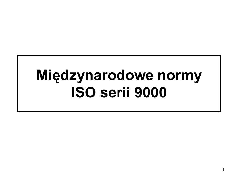 1 Międzynarodowe normy ISO serii 9000